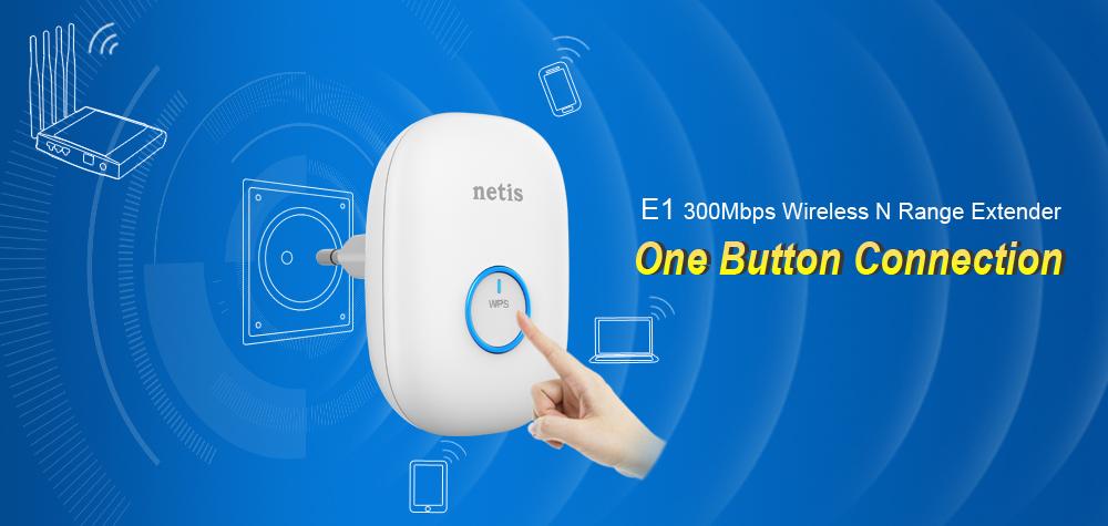 netis E1 Wireless Range Extender Help Expand Wi-Fi Coverage