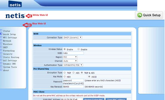 Solution for display issue of netis wireless routers' web